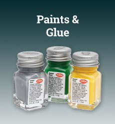 modeling paints glues