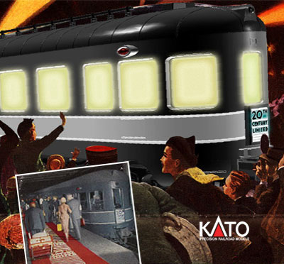 Kato 20th Century Limited N Scale Train Set