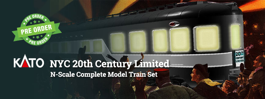 Kato NYC 20th Century Limited N Scale Preorder Now