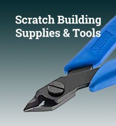 model railroad scratch building supplies tools