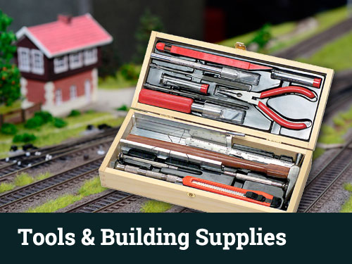 model railroad scratch train layout tools building supplies